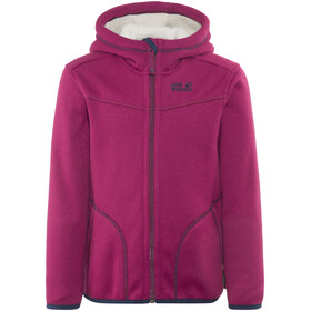 Jack Wolfskin Navajo Valley Fleece Jacket Kids dark ruby